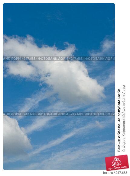 Белые облака на голубом небе, фото № 247688, снято 10 апреля 2008 г. (c) Федор Королевский / Фотобанк Лори