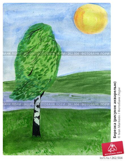 Березка (рисунок акварелью), иллюстрация № 262504 (c) Василий Каргандюм / Фотобанк Лори