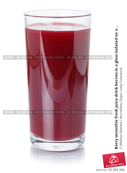Berry smoothie fresh juice drink berries in a glass isolated on a... Стоковое фото, фотограф Markus Mainka / easy Fotostock / Фотобанк Лори