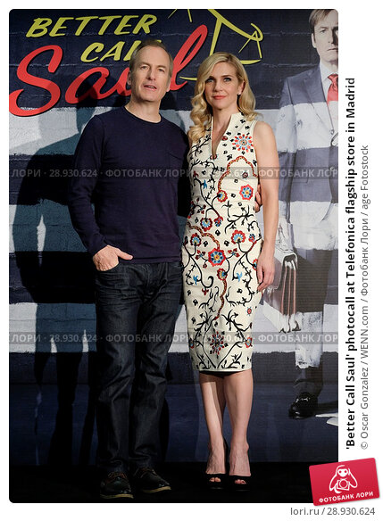 Купить «'Better Call Saul' photocall at Telefonica flagship store in Madrid Featuring: Bob Odenkirk, Rhea Seehorn Where: Madrid, Spain When: 18 Apr 2017 Credit: Oscar Gonzalez/WENN.com», фото № 28930624, снято 18 апреля 2017 г. (c) age Fotostock / Фотобанк Лори