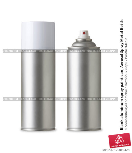 Купить «Blank aluminum spray paint can, Aerosol Spray Metal Bottle», фото № 12303428, снято 23 марта 2019 г. (c) PantherMedia / Фотобанк Лори