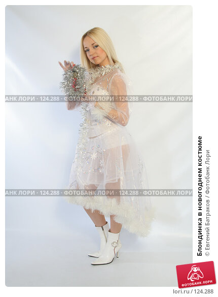 Блондинка в новогоднем костюме, фото № 124288, снято 11 ноября 2007 г. (c) Евгений Батраков / Фотобанк Лори