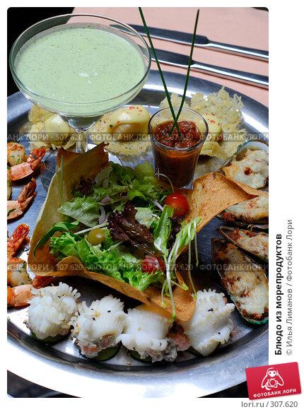 Блюдо из морепродуктов, фото № 307620, снято 25 июля 2007 г. (c) Илья Лиманов / Фотобанк Лори