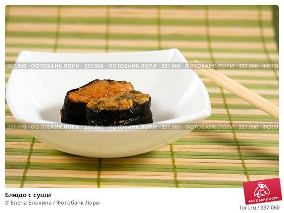 Блюдо с суши, фото № 337060, снято 24 июня 2008 г. (c) Елена Блохина / Фотобанк Лори
