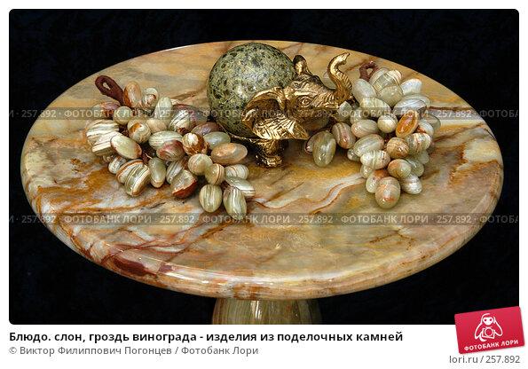 Блюдо. слон, гроздь винограда - изделия из поделочных камней, фото № 257892, снято 26 ноября 2004 г. (c) Виктор Филиппович Погонцев / Фотобанк Лори