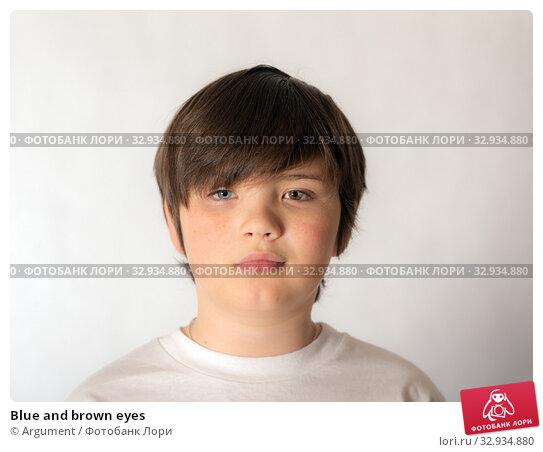 Купить «Blue and brown eyes», фото № 32934880, снято 26 октября 2015 г. (c) Argument / Фотобанк Лори