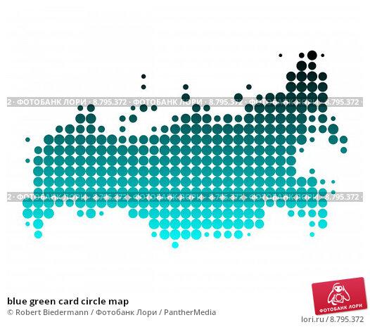 Купить «blue green card circle map», иллюстрация № 8795372 (c) PantherMedia / Фотобанк Лори