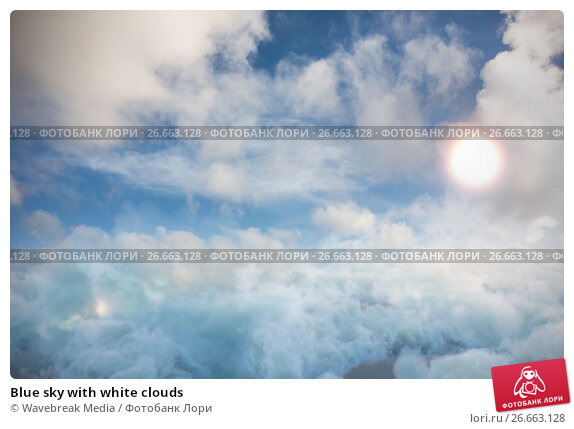 Blue sky with white clouds, фото № 26663128, снято 27 июля 2017 г. (c) Wavebreak Media / Фотобанк Лори