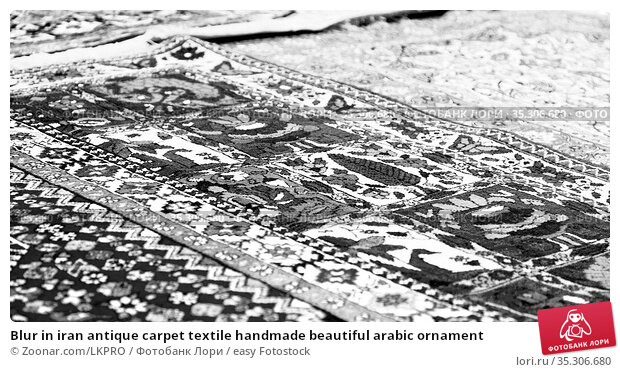 Blur in iran antique carpet textile handmade beautiful arabic ornament. Стоковое фото, фотограф Zoonar.com/LKPRO / easy Fotostock / Фотобанк Лори