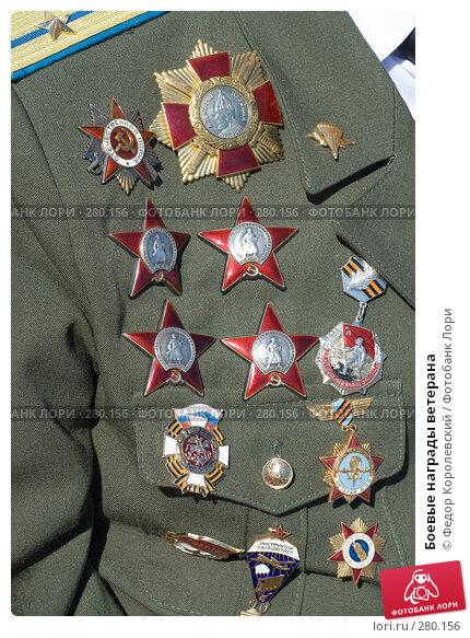 Боевые награды ветерана, фото № 280156, снято 9 мая 2008 г. (c) Федор Королевский / Фотобанк Лори