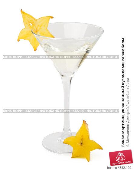 Бокал мартини, украшенный кусочками карамболы, фото № 332192, снято 20 мая 2008 г. (c) Мельников Дмитрий / Фотобанк Лори