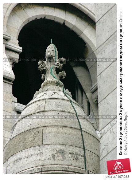 Боковой церковный купол с медным громоотводом на церкви Святого Сердца в Париже, Франция, фото № 107268, снято 27 февраля 2006 г. (c) Harry / Фотобанк Лори