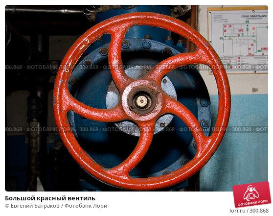 Большой красный вентиль, фото № 300868, снято 26 мая 2008 г. (c) Евгений Батраков / Фотобанк Лори