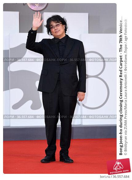 Bong Joon-ho during closing Ceremony Red Carpet - The 78th Venice... Редакционное фото, фотограф Bildbyran via ZUMA Press/Maria Laura Antonelli / age Fotostock / Фотобанк Лори