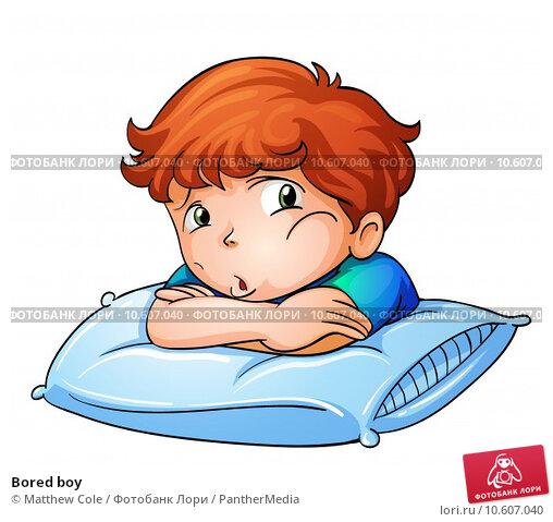 Bored boy. Стоковая иллюстрация, иллюстратор Matthew Cole / PantherMedia / Фотобанк Лори