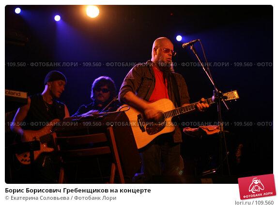 Борис Борисович Гребенщиков на концерте, фото № 109560, снято 4 ноября 2007 г. (c) Екатерина Соловьева / Фотобанк Лори