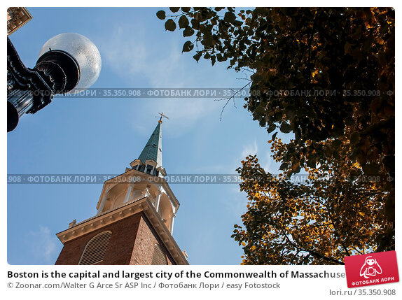 Boston is the capital and largest city of the Commonwealth of Massachusetts... Стоковое фото, фотограф Zoonar.com/Walter G Arce Sr ASP Inc / easy Fotostock / Фотобанк Лори
