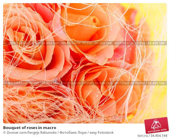 Bouquet of roses in macro. Стоковое фото, фотограф Zoonar.com/Sergejs Rahunoks / easy Fotostock / Фотобанк Лори