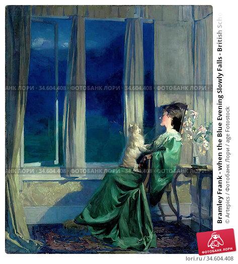 Bramley Frank - when the Blue Evening Slowly Falls - British School... Стоковое фото, фотограф Artepics / age Fotostock / Фотобанк Лори