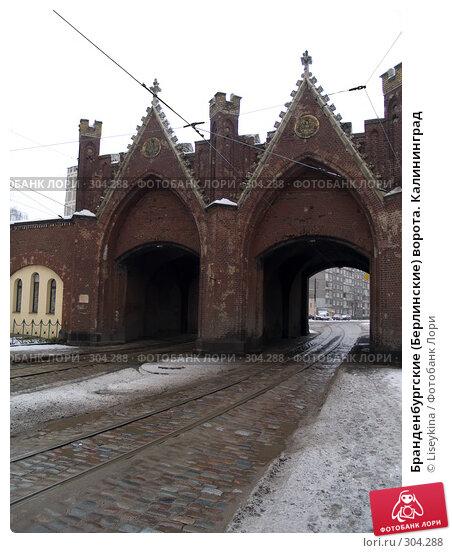 Бранденбургские (Берлинские) ворота. Калининград, фото № 304288, снято 1 января 2008 г. (c) Liseykina / Фотобанк Лори