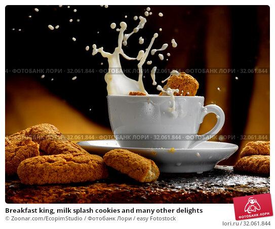 Breakfast king, milk splash cookies and many other delights. Стоковое фото, фотограф Zoonar.com/EcopimStudio / easy Fotostock / Фотобанк Лори