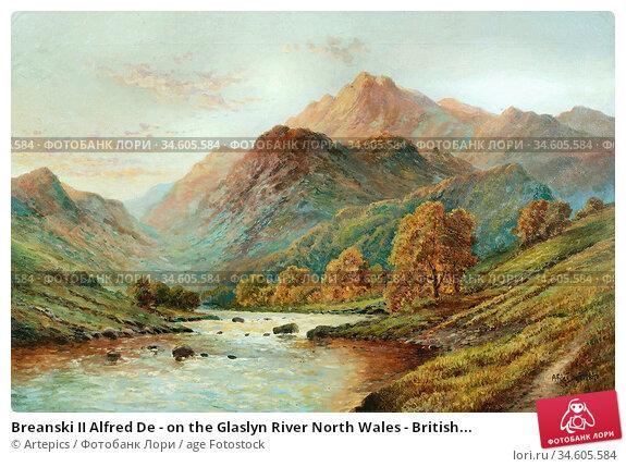 Breanski II Alfred De - on the Glaslyn River North Wales - British... Стоковое фото, фотограф Artepics / age Fotostock / Фотобанк Лори