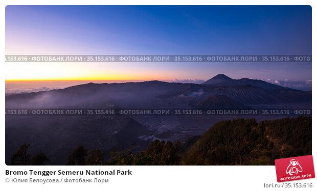 Bromo Tengger Semeru National Park (2018 год). Стоковое фото, фотограф Юлия Белоусова / Фотобанк Лори