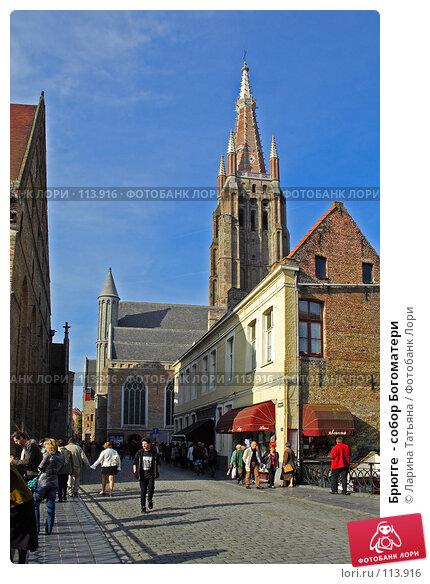 Брюгге  - собор Богоматери, фото № 113916, снято 30 сентября 2007 г. (c) Ларина Татьяна / Фотобанк Лори