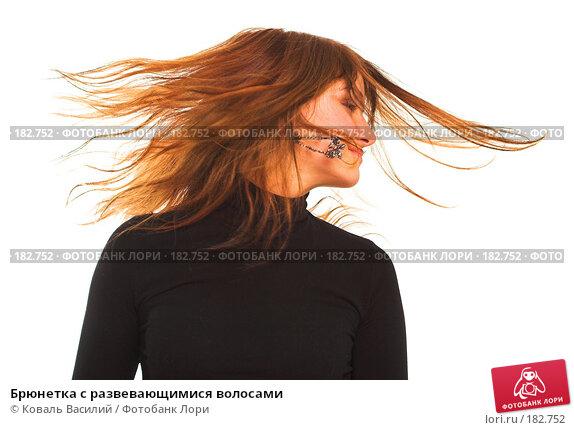 Купить «Брюнетка с развевающимися волосами», фото № 182752, снято 2 ноября 2006 г. (c) Коваль Василий / Фотобанк Лори