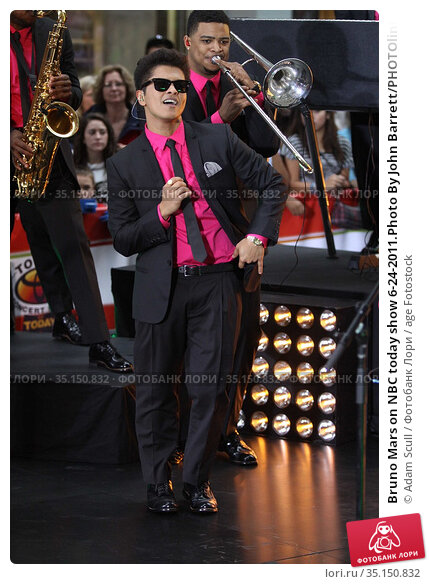 Bruno Mars on NBC today show 6-24-2011.Photo By John Barrett/PHOTOlink... Редакционное фото, фотограф Adam Scull / age Fotostock / Фотобанк Лори