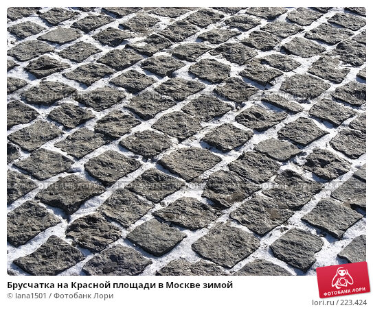 Купить «Брусчатка на Красной площади в Москве зимой», эксклюзивное фото № 223424, снято 16 февраля 2008 г. (c) lana1501 / Фотобанк Лори