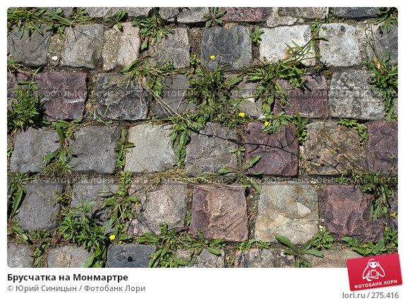 Брусчатка на Монмартре, фото № 275416, снято 20 июня 2007 г. (c) Юрий Синицын / Фотобанк Лори