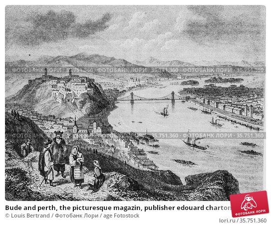 Bude and perth, the picturesque magazin, publisher edouard charton... (2009 год). Редакционное фото, фотограф Louis Bertrand / age Fotostock / Фотобанк Лори