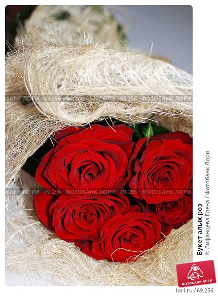 Букет алых роз, фото № 69256, снято 5 августа 2007 г. (c) Лифанцева Елена / Фотобанк Лори