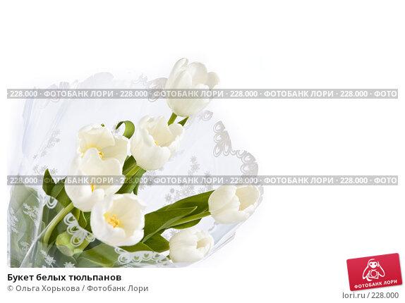 Букет белых тюльпанов, фото № 228000, снято 8 марта 2008 г. (c) Ольга Хорькова / Фотобанк Лори