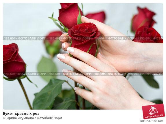 Букет красных роз, фото № 185604, снято 3 января 2008 г. (c) Ирина Игумнова / Фотобанк Лори