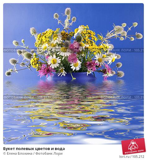 Букет полевых цветов и вода, фото № 105212, снято 4 декабря 2016 г. (c) Елена Блохина / Фотобанк Лори