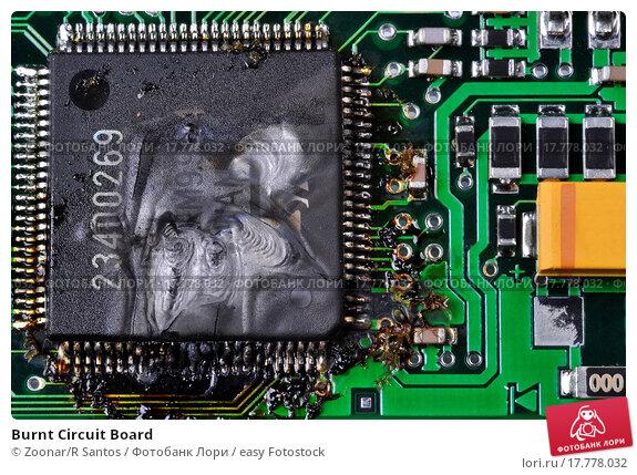 Burnt Circuit Board. Стоковое фото, фотограф Zoonar/R Santos / easy Fotostock / Фотобанк Лори