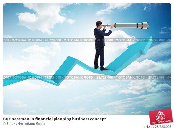 Купить «Businessman in financial planning business concept», фото № 28728008, снято 16 февраля 2019 г. (c) Elnur / Фотобанк Лори