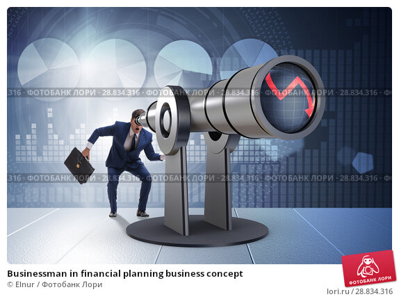 Купить «Businessman in financial planning business concept», фото № 28834316, снято 20 февраля 2019 г. (c) Elnur / Фотобанк Лори