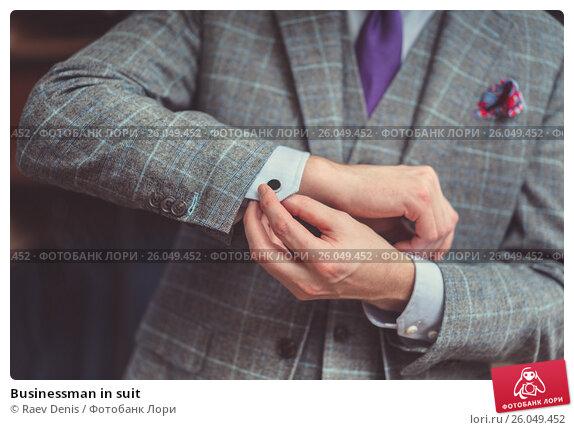 Купить «Businessman in suit», фото № 26049452, снято 20 марта 2017 г. (c) Raev Denis / Фотобанк Лори