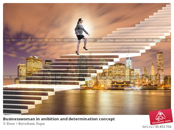 Businesswoman in ambition and determination concept. Стоковое фото, фотограф Elnur / Фотобанк Лори