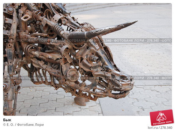 Купить «Бык», фото № 278340, снято 2 мая 2008 г. (c) Екатерина Овсянникова / Фотобанк Лори
