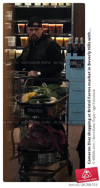 Купить «Cameron Diaz shopping at Bristol Farms market in Beverly Hills with her husband Benji Madden Featuring: Benji Madden Where: Los Angeles, California, United States When: 27 Dec 2016 Credit: WENN.com», фото № 28700112, снято 27 декабря 2016 г. (c) age Fotostock / Фотобанк Лори