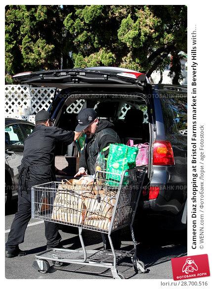 Купить «Cameron Diaz shopping at Bristol Farms market in Beverly Hills with her husband Benji Madden Featuring: Benji Madden Where: Los Angeles, California, United States When: 27 Dec 2016 Credit: WENN.com», фото № 28700516, снято 27 декабря 2016 г. (c) age Fotostock / Фотобанк Лори