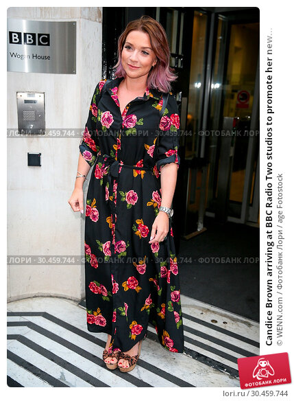 Candice Brown arriving at BBC Radio Two studios to promote her new... (2017 год). Редакционное фото, фотограф WENN.com / age Fotostock / Фотобанк Лори