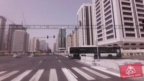 Купить «Car trip near the skyscrapers in Abu Dhabi stock footage video», видеоролик № 29400544, снято 4 апреля 2018 г. (c) Юлия Машкова / Фотобанк Лори