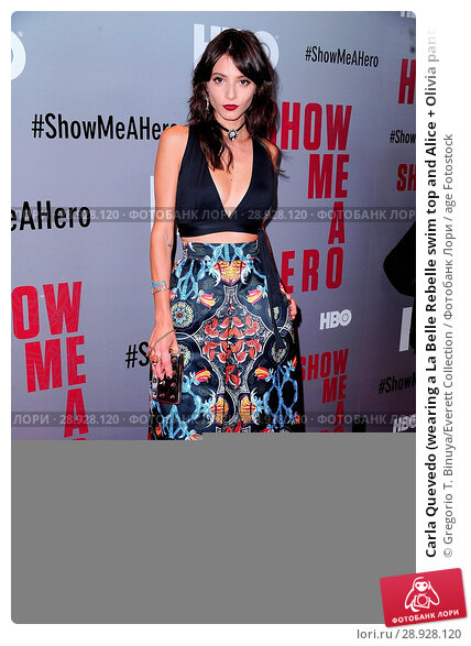 Купить «Carla Quevedo (wearing a La Belle Rebelle swim top and Alice + Olivia pants) at arrivals for SHOW ME A HERO Miniseries Premiere on HBO, The New York Times...», фото № 28928120, снято 21 августа 2018 г. (c) age Fotostock / Фотобанк Лори