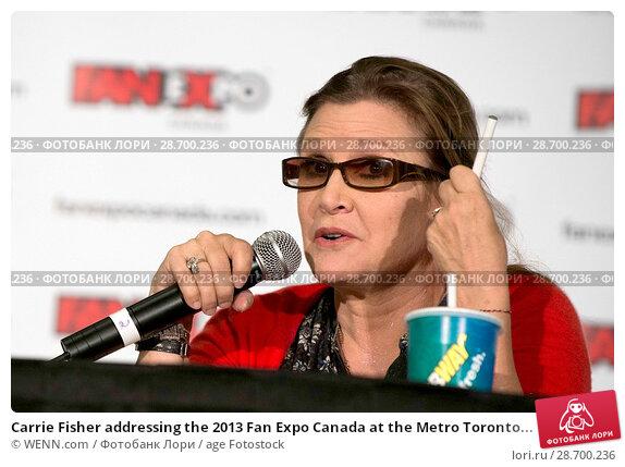 Купить «Carrie Fisher addressing the 2013 Fan Expo Canada at the Metro Toronto Convention Centre in Toronto, Canada. Featuring: Carrie Fisher Where: Toronto, Ontario, Canada When: 25 Aug 2013 Credit: WENN.com», фото № 28700236, снято 25 августа 2013 г. (c) age Fotostock / Фотобанк Лори