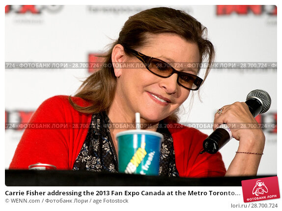 Купить «Carrie Fisher addressing the 2013 Fan Expo Canada at the Metro Toronto Convention Centre in Toronto, Canada. Featuring: Carrie Fisher Where: Toronto, Ontario, Canada When: 25 Aug 2013 Credit: WENN.com», фото № 28700724, снято 25 августа 2013 г. (c) age Fotostock / Фотобанк Лори